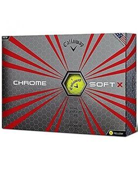 Callaway 2017 Chrome Soft X Golf Balls 1 Dozen - Yellow