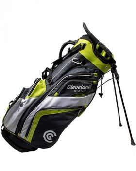 Cleveland Saturday Stand Bag - Chrome/Lime/White