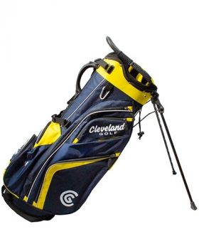 Cleveland Saturday Stand Bag - Navy/Yellow