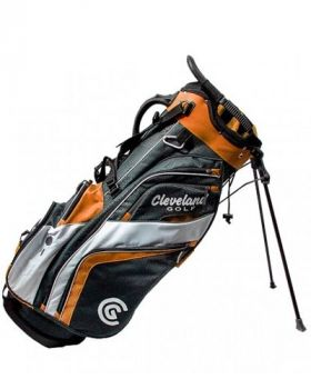 Cleveland Saturday Stand Bag - Charcoal/Orange/White