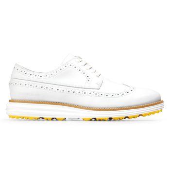 Cole Haan Men's ØriginalGrand Golf Shoes - White/White