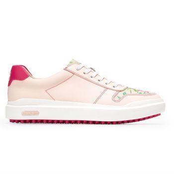 Cole Haan Women's GrandPrø AM Golf Sneaker Shoes - Clay Pink/Tropical Pink