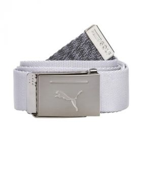Puma Reversible Web Belt - Bright White