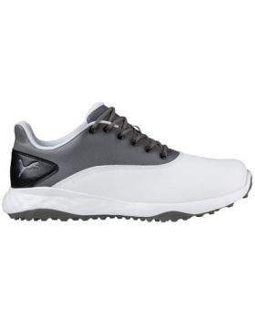 Puma Grip Fusion Golf Shoes - White/Quiet Shade/Black