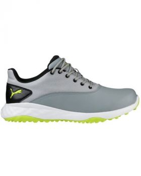 Puma Grip Fusion Golf Shoes - Quarry/Acid Lime/Black