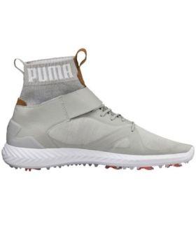 Puma Men's Ignite PWRADAPT Hi-Top Golf Shoes - Gray-Violet/Silver