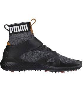 Puma Men's Ignite PWRADAPT Hi-Top Golf Shoes - Black