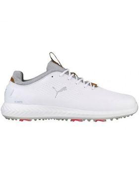Puma Men's Ignite PWRADAPT Leather Golf Shoes - Bright White