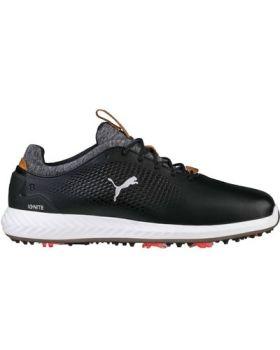 Puma Men's Ignite PWRADAPT Leather Golf Shoes - Black