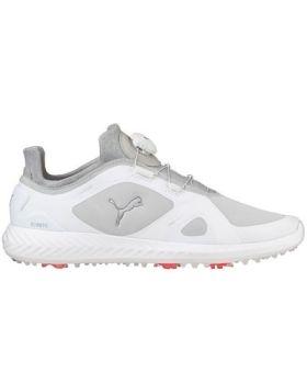 Puma Men's Ignite PWRADAPT Disc Golf Shoes - White/Gray