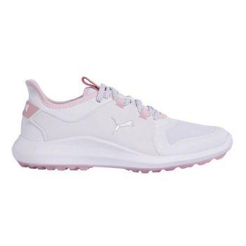 Puma Womens IGNITE Fasten8 Golf Shoes - Puma White/Puma Silver/Pink Lady