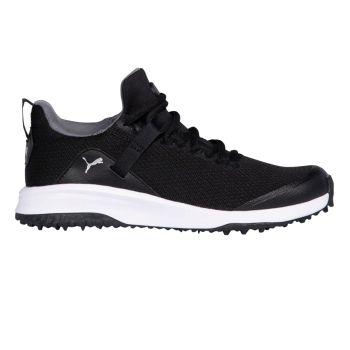 PUMA Junior Grip Fusion Evo Golf Shoes - Puma Black/Puma Black