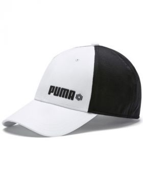 Puma Dot Mesh Stretch Fit Cap - Bright White