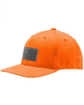 Puma Youth Patch Snapback Cap - Vibrant Orange