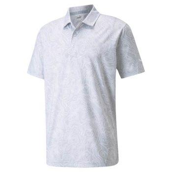 Puma Mattr Topo Golf Polo - High Rise/Bright White