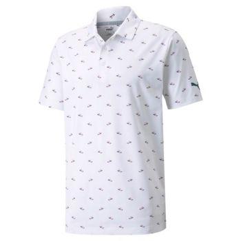 Puma Mattr Paradise Golf Polo - Bright White