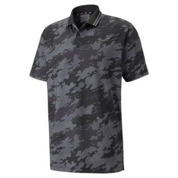 Puma X Camouflage Golf Polo - Black
