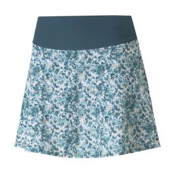 Puma Women's Pwrshape Camo Golf Skirt - Teal