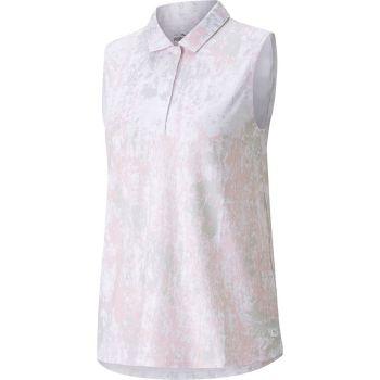 Puma Women's Cloudspun Chelsea Concrete Sleeveless Golf Polo - Parfait Pink