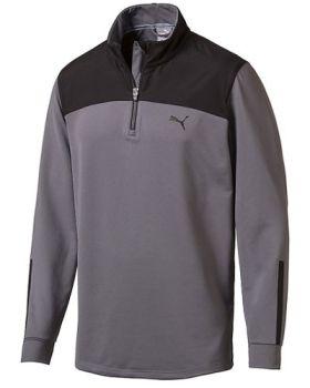 Puma Men's PWRWARM 1/4 Zip Popover Jacket - Quiet Shade