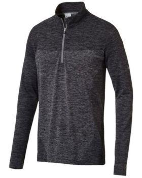 Puma Men's Evoknit Seamless 1/4 Zip Sweater - Black
