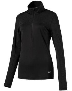 Puma Women's Jacquard 1/4 Zip Jacket - Black