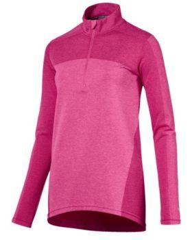 Puma Women's Evoknit Seamless 1/4 Zip Jacket - Carmine Rose
