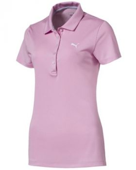 PUMA Women's Pounce Golf Polo - Pale Pink