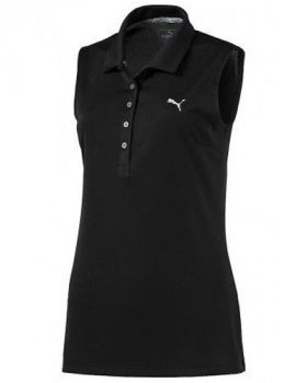 Puma Women's Pounce Sleeveless Polo - Black