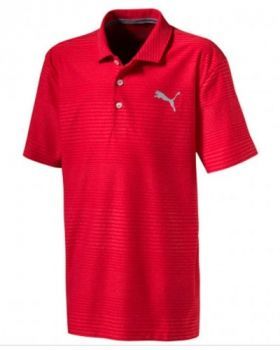 Puma Junior Pounce Aston Polo Shirt - High Risk Red