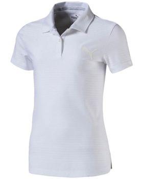 Puma Girl's Pounce Aston Polo Shirt - Bright White