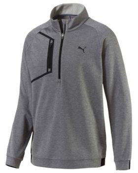 Puma Envoy 1/4 Zip Jacket - Medium Gray Heather