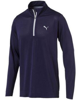 Puma evoKNIT Essential 1/4 Zip Sweater - Peacoat