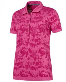 Puma Women's evoKNIT Polo Shirt - Carmine Rose