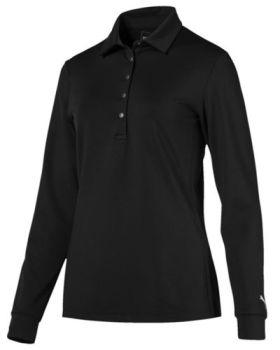 Puma Women's Long Sleeve Polo Shirt - Black