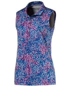 Puma Women's Floral Sleeveless Polo Shirt - Majesty