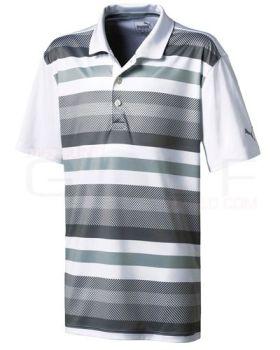 Puma Junior Turf Stripe Polo Shirt - Quiet Shade