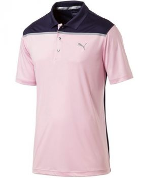 PUMA Bonded Colorblock Golf Polo - Pale Pink