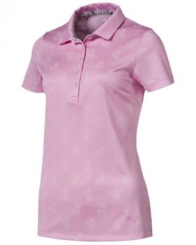 PUMA Women's Burst into Bloom Golf Polo - Pale Pink