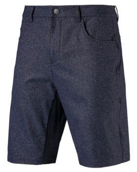 PUMA Jackpot 5 Pocket Heather Golf Shorts - Peacoat