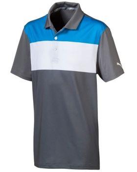 PUMA Juniors Nineties Golf Polo - Blue Azur