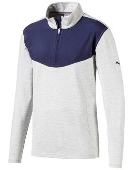 Puma Preston 1/4 Zip Golf Pullover - Quarry Heather