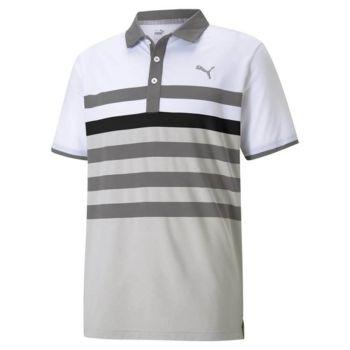 Puma Mattr One Way Golf Polo - Quiet Shade/Puma Black
