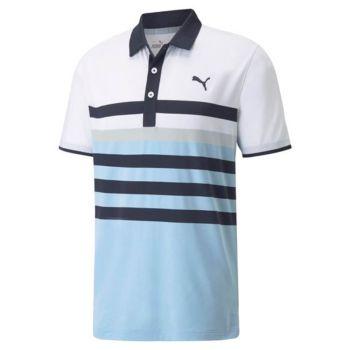Puma Mattr One Way Golf Polo - Navy Blazer/Placid Blue