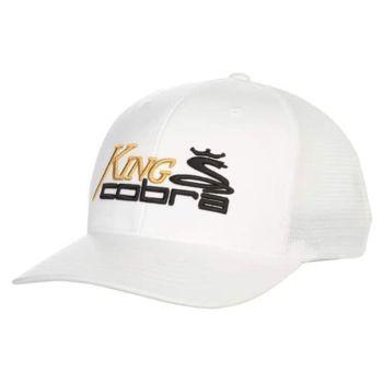 Cobra Men's Trucker Snapback Cap - White