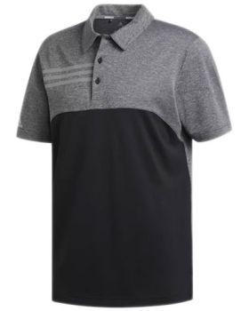 Adidas 3-Stripes Heather Blocked Polo Shirt - Black