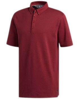 Adidas Adipure Triple Notch Polo Shirt - Craft Red