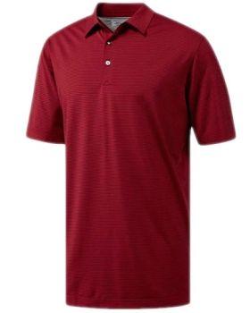 Adidas Adipure Stripe Polo Shirt - Craft Red/Maroon