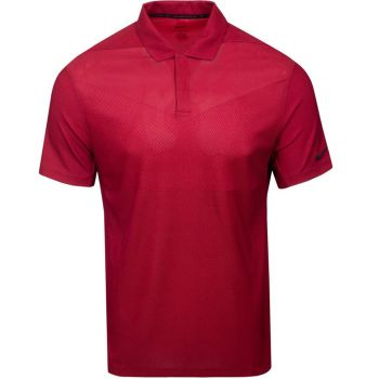 Nike Men's Tiger Woods Dri-Fit ADV Traditional Golf Polo - Gym Red/Team Red/Black