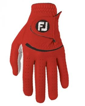 Footjoy Men's Spectrum Glove Pearl/Red Left Hand (For the Right Handed Golfer)